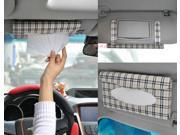 Portable Leather Auto Car Visor Tissue Bag Organizer Storage Box Holder