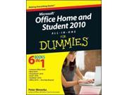 Office Home and Student 2010 All-in-One for Dummies For Dummies Weverka, Peter