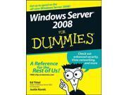 Windows Server 2008 for Dummies For Dummies Tittel, Ed/ Korelc, Justin