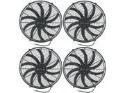 "American Volt 4-Pack 16"""" Inch Electric Fans 12V Auto Radiator Cooling Fan Quad Motor 10000 CFM"" 9SIA9WC4BX2632"