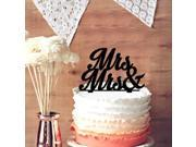 Mrs Mrs Silhouette Same Sex Wedding Cake Topper Bride and Bride Acrylic Cake Topper