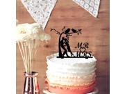 Sweet Love 2 Birds with Mr Mrs Wedding Cake Topper A Couple Under A Tree Wedding Cake Topper