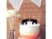 Funny 2 Elephants Wedding Cake Topper Elephant Wedding Cake topper
