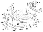 Ford OEM License Plate Bracket #EJ7Z17A385C