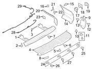 Ford OEM Bumper Cover Nut #CV6Z17C756B