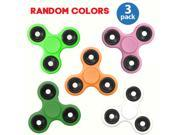 3-Pack: Fidget Hand Tri-Spinner Anxiety & Stress Relief Toy with Hybrid Ceramic Bearing Good for ADHD and Autism, Hand Spinner Finger Spinner Fidget Toy