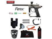 Spyder Fenix Private Paintball Gun Package Silver Grey