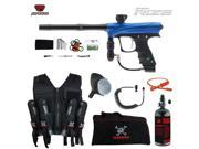 Proto Rize Maddog Lieutenant HPA Sport Vest Paintball Gun Package Blue Dust