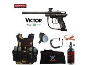 Spyder Victor Maddog Lieutenant HPA Tactical Camo Vest Paintball Gun Package Black