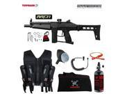 Tippmann Stryker MP1 Maddog Lieutenant HPA Sport Vest Paintball Gun Package Black