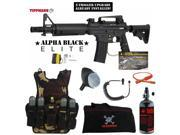 Tippmann U.S. Army Alpha Black Elite Tactical w E Grip Maddog Lieutenant HPA Tactical Camo Vest Paintball Gun Package Black