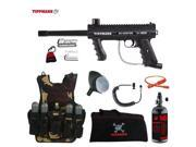 Tippmann 98 Custom Maddog Lieutenant HPA Tactical Camo Vest Paintball Gun Package Black