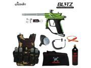 Azodin Blitz 3 Maddog Lieutenant Tactical Camo Vest Paintball Gun Package Green