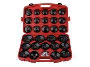 30PCS Cup Type Oil Filter Cap Wrench Socket Removal Tool Kit For Vehicle Black & Red 9SIAA0C7AD8727