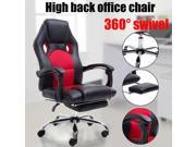 High Back Reclining Height Adjustable Office Chair With Footrest Armchair black & red 9SIAA0C7AD6528