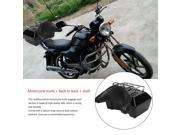Lockable Motorcycle Trunk Luggage Case Tail Box+Rack+Backrest Back Cushion black&silver 9SIAA0C7AD8714