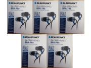 Lot of 5 Blaupunkt BPA-795 Hi-Fi Personal Audio In-Ear Headphones Noise Isolation