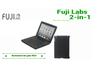 Fuji Labs 2-in1 Bundle Fuji Labs Bluetooth Keyboard for iPad + Fuji Labs iPad Shell Case