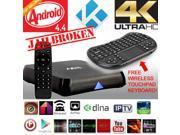 XCSOURCE KODI Quad Core M8 Android 4.4 TV Box 4K Sport Film Movies XXX+ keyboard UK + Wireless Keyboard With Touchpad AH021