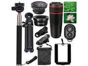 10in1 Fisheye+Wide Angle+Macro+Telephoto Lens For iPhone 4S 5C 5S 6 Plus DC600