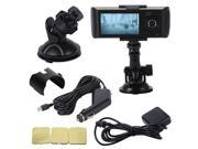"2.7"" Vehicle Car DVR Camera Video Recorder Dash Cam G-Sensor GPS Dual Len MA352"