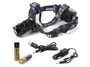 Xcsource® CREE XM-L L2 LED rechargeable Torch Headlamp + 2X 4000mAh 18650 + Charger LD419