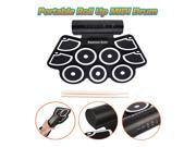 Digital Portable Roll Up MIDI Drum Kit Foldable Tabletop Silicon Gift for Child
