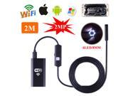 Sent from USA! Hopezone 2M 720P 500mAh 6LED Waterproof WiFI Inspection Endoscope  Snake Tube Camera for IOS/Android