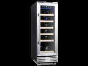 Kalamera 12'' Built-in Wine Cooler Chiller Refrigerator 18-bottle Stainless Steel Door Digital Temperature Control (Shipping From US)