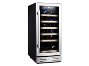 Kalamera 15'' Wine Cooler Refrigerator Chiller 30 Bottle Built-in Single Zone with Touch Control (Shipping From US)
