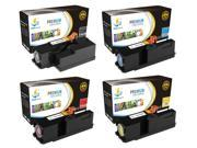 Catch Supplies 4 Pack Replacement Toner Cartridge Set for the Dell 1250 series ( 331-0778, 331-0777, 331-0780, 331-0779 ) compatible with the Dell 1250C, 1350CN