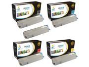 Catch Supplies 5 Pack Replacement Toner Cartridge Set for the Oki C6150 series (2 Black 43865720, 1 Cyan 43865719, 1 Magenta 43865718, and 1 Yellow 43865717 ) c