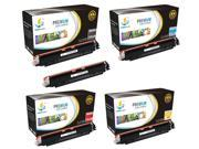 Catch Supplies Replacement HP 126A toner cartridge 5 pack set /Black CE310A, Cyan CE311A, Yellow CE312A, Magenta CE313A/ compatible with the HP LaserJet Pro CP1