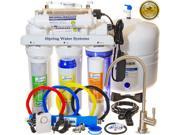 iSpring RCC7U - WQA GOLD SEAL - 6-Stage 75GPD Reverse Osmosis Water Filter System. Under Sink RO Filtration with 11W Flow-sensor UV sanitation stage - ideal for Well Water