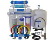 iSpring 75GPD 6-Stage Reverse Osmosis RO DI Water Filter System. Under Sink RO Filtration with De-ionization Filter #RCC7D