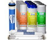 iSpring F17U100 2-Year Replacement Filter Set for 100GPD 6-Stage UV Reverse Osmosis Water Filter, Fits iSpring RCC1UP RCC7U 17pcs 4SED 4GAC 4CTO 2T33 1MC1 2UVB1 9SIAA6U6JV5137