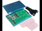 "USB 3.1 / 10Gbps  micro B type to M.2 & mSATA SSD Adapter with 2.5"" Enclosure (M.2 / mSATA alternative)"