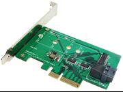 Minerva PCI-e 4 Lane to M.2 (NVMe) SSD & Mini SAS HD (SFF-8643) Adapter