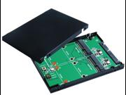 "SATA III to mSATA SSD x2 RAID Card with 2.5"" Aluminum Housing"