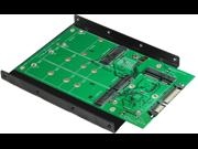 """Minerva SATA III to M.2 SSD x2 & mSATA SSD x2 RAID Card with 3.5"""" Frame Bracket & PCI-e Standard Bracket"""