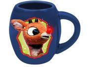 VANDOR - RUDOLPH HOLLY JOLLY 18 OZ. OVAL CERAMIC MUG 01M-043H-00012