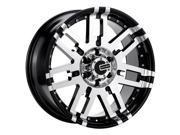 Mamba Wheels 582Mb M2X Gloss Black W/ Machined Face 17x8 5x127  6 Offset 78.1 Hub