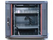 """12U Server Rack Cabinet Enclosure. Fully Equipped. ACCESSORIES FREE! Vented Shelf, Cooling Fan, 6-Way PDU ,Hardware, Feet. Wall Mount 24"""" Deep Closed Lockable Server Network IT 19"""" Enclosure Box"""