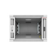 """6U Server Rack Cabinet Enclosure. Fully Equipped. ACCESSORIES FREE! Vented Shelf, Cooling Fan, Hardware. Wall Mount 24"""" Deep Closed Lockable Server Network IT 19"""" Enclosure Box"""