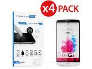 4 Pack Premium High Quality Real Tempered Glass Film Screen Protector for LG G3 9SIAA7W6WU5089