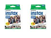 40 Prints Fujifilm Instax Wide Film for Instax 200/210 and 300 Camera 10/2019