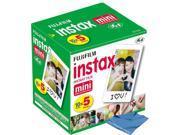50 Prints Fuji Fujifilm Instax Mini Instant Film w Cloth for Polaroid 300 Camera