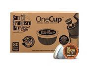 San Francisco Bay Coffee Breakfast Blend, 80 OneCup Single Serve Cups, New