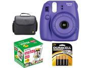 Fujifilm Instax Mini 8 Instant Film Camera Grape Purple +50 Sheets Mini Film