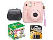 NEW Fuji instax mini 8 Pink Fujifilm instant Film Camera + 50 Film + Case